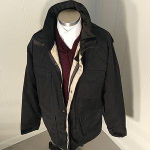 Woolrich Vintage Hooded Black Parka 33334